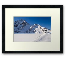 Winter Reservoir Framed Print