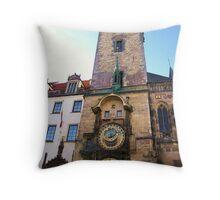 Prague Astronomical Clock (plus building) Throw Pillow