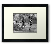 Flapper Girls Riding Bicycles, 1925 Framed Print