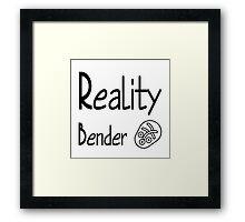 reality bender Framed Print