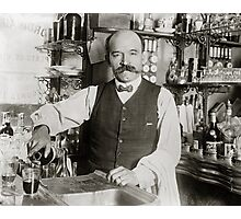 Bartender Pouring Drink, 1910 Photographic Print
