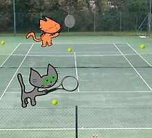 Tennis Cats by JohnsCatzz