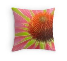 The Flames of Echinacea Throw Pillow
