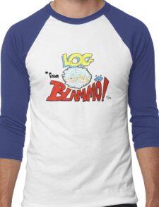 Log from Blammo Men's Baseball ¾ T-Shirt