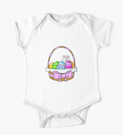 Bunny Basket One Piece - Short Sleeve