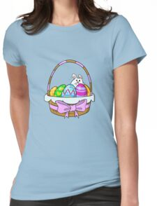 Bunny Basket Womens Fitted T-Shirt