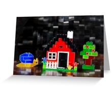 Lego House with Accessories Greeting Card