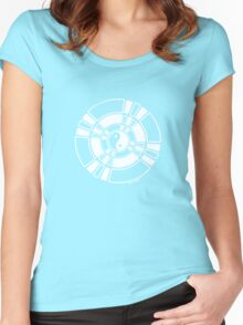 Mandala 42 Yin-Yang Simply White  Women's Fitted Scoop T-Shirt
