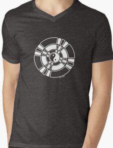 Mandala 42 Yin-Yang Simply White  Mens V-Neck T-Shirt