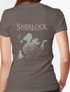 Sherlock: A Scandal in Middle-earth (Grey) Womens Fitted T-Shirt