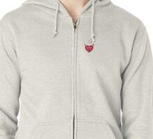 Female to Female Discreet Small Design Zipped Hoodie