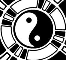 Mandala 42 Yin-Yang Back In Black  Sticker