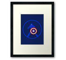 Just Captain America Framed Print