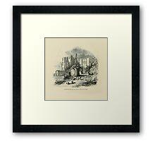 Vintage England Kenilworth Castle Framed Print
