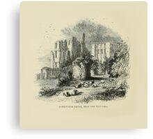Vintage England Kenilworth Castle Canvas Print