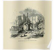 Vintage England Kenilworth Castle Poster