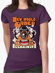 Anti New World Order - Clockwork Orange Mashup Womens Fitted T-Shirt