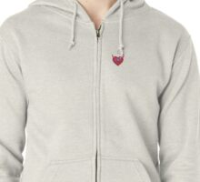 Female to Male Straight Design Zipped Hoodie