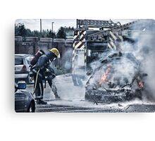 Fireman Lucis Art Style Canvas Print