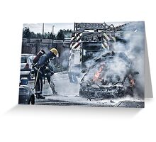 Fireman Lucis Art Style Greeting Card