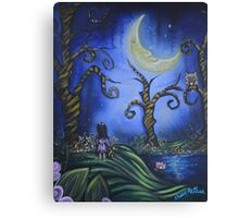 Hanging With The Man In The Moon By Sherry Arthur Canvas Print