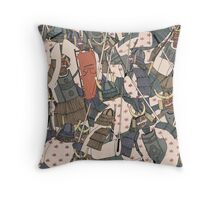 Samurai Ghosts Throw Pillow