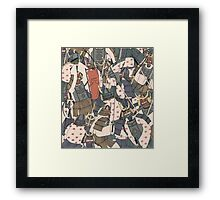 Samurai Ghosts Framed Print