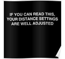 Gamer: Distance Settings Poster