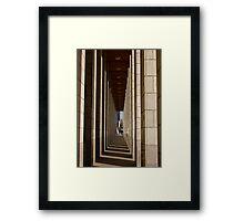 Walking Through Shadows and Light Framed Print