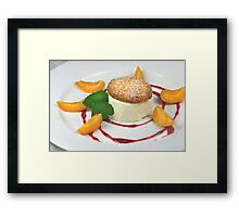 Honeyparfait With Biscotti di Mandorle Framed Print