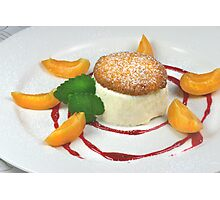 Honeyparfait With Biscotti di Mandorle Photographic Print