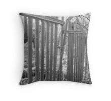 Rusted Poles Throw Pillow
