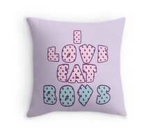 i love fat boys  Throw Pillow