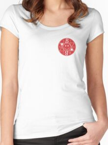 Bromance - Red Logo Women's Fitted Scoop T-Shirt