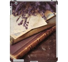 Still life with old books and lavenda iPad Case/Skin