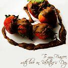 Chocolate Strawberry Valentine's Card - Fiancee by -raggle-