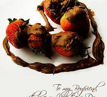 Chocolate Strawberry Valentine's Card - Boyfriend by -raggle-