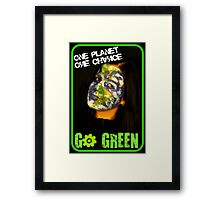 One Planet, One Chance Framed Print