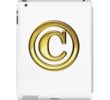 Copyright Symbol Large Gold Design iPad Case/Skin