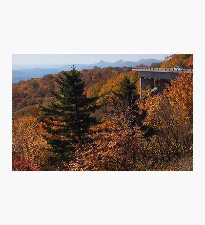 View from Blue Ridge Parkway near Linn Cove Viaduct Photographic Print
