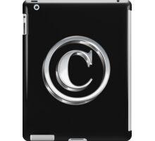 Copyright Symbol Large Silver Design iPad Case/Skin
