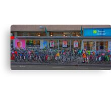 Cycle park at the supermarket Canvas Print