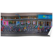 Cycle park at the supermarket Poster