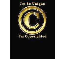 Copyright Symbol So Unique Gold Design Photographic Print