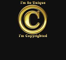 Copyright Symbol So Unique Gold Design Zipped Hoodie