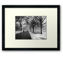 Foggy Day in Winter Framed Print
