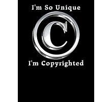 Copyright Symbol So Unique Silver Design Photographic Print