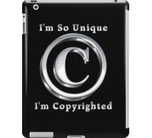 Copyright Symbol So Unique Silver Design iPad Case/Skin