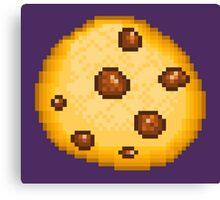 Pixel Food - Chocolate Chip Cookie Canvas Print
