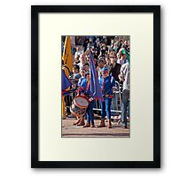Why Does He Always Get the Drum?? !! Framed Print